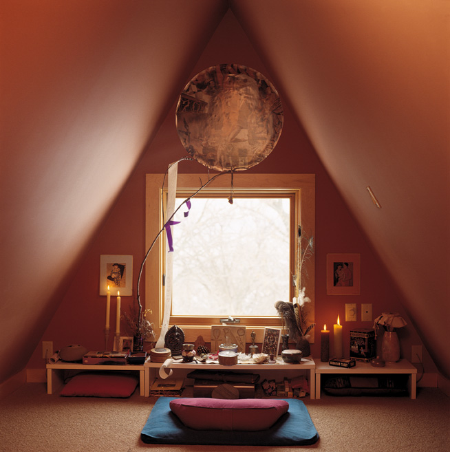 Wabi sabi weekend give yourself sacred space robyn for Living room yoga